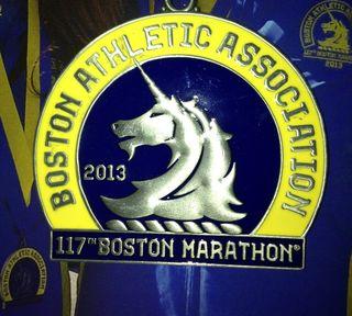 2013 Boston Marathon Medal