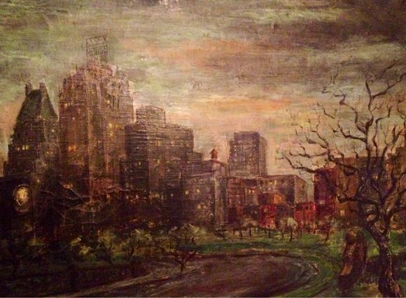 Beautiful Central Park - painted by a friend of my parents when they all lived in New York