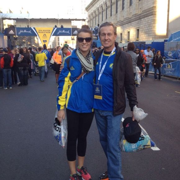 "Lifetime achievement - ""Running Boston"" with daughter @KaitlynMBrant - memborable pic, before, during & after"