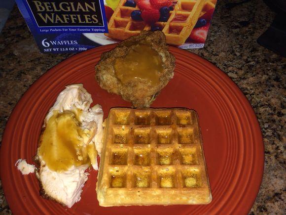 Crazy soccer - loving 0-0 & devouring chicken & Belgiun waffles.....
