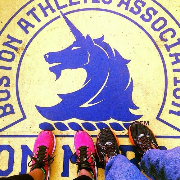 Sneakers on the Finish Line - Motivation on the eve of running the Boston Marathon!