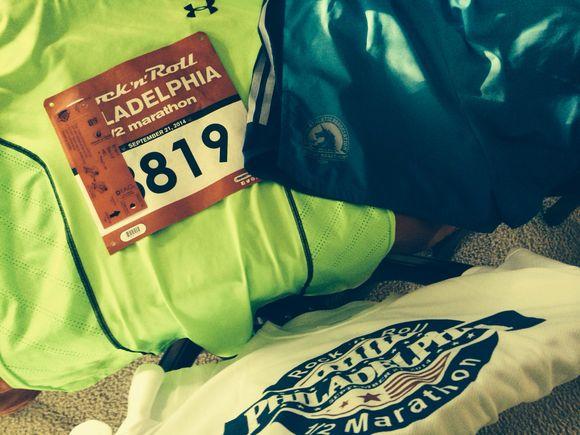 Fun getting ready for Philly Rock & Roll Half Marathon...