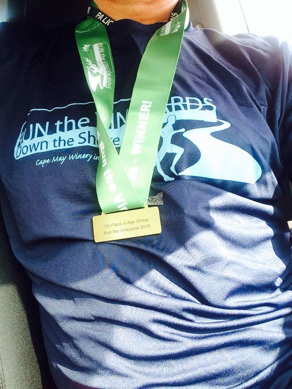 Nothing says mellow like a glass of merlot + a full dose of endorphins, and oh yeah, a medals - all before 10 am...